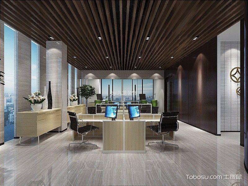 东莞松山湖办公室简约风格装修效果图