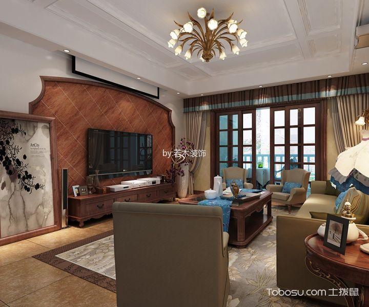 滨湖蓝鼎金榈苑170美式地中海风格