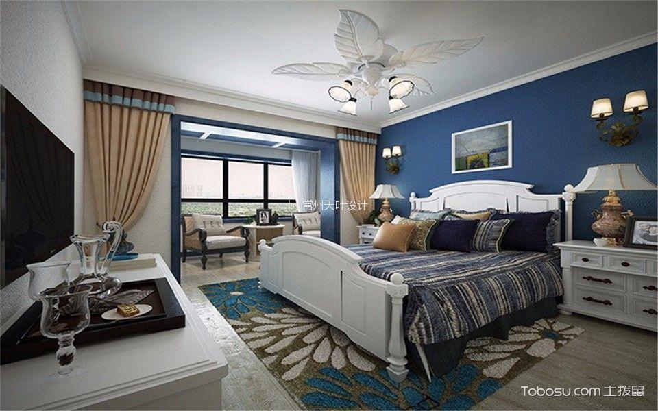 地中海卧室背景墙效果图图片