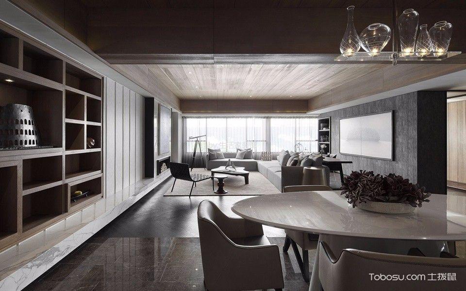 餐厅黑色地砖现代风格装饰设计图片