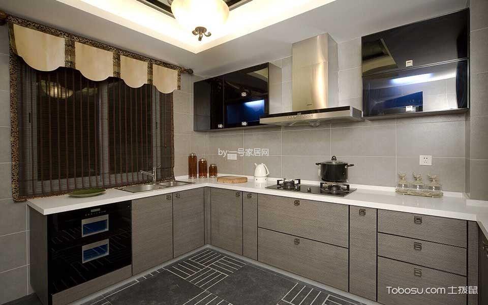 厨房 窗帘_绿地香颂中式风格装修效果图