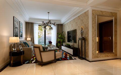 名门华府90平米现代简约风格二居室装修效果图
