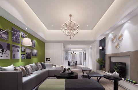 美联奥林匹克花园110平半包北欧风格三居室装修设计图