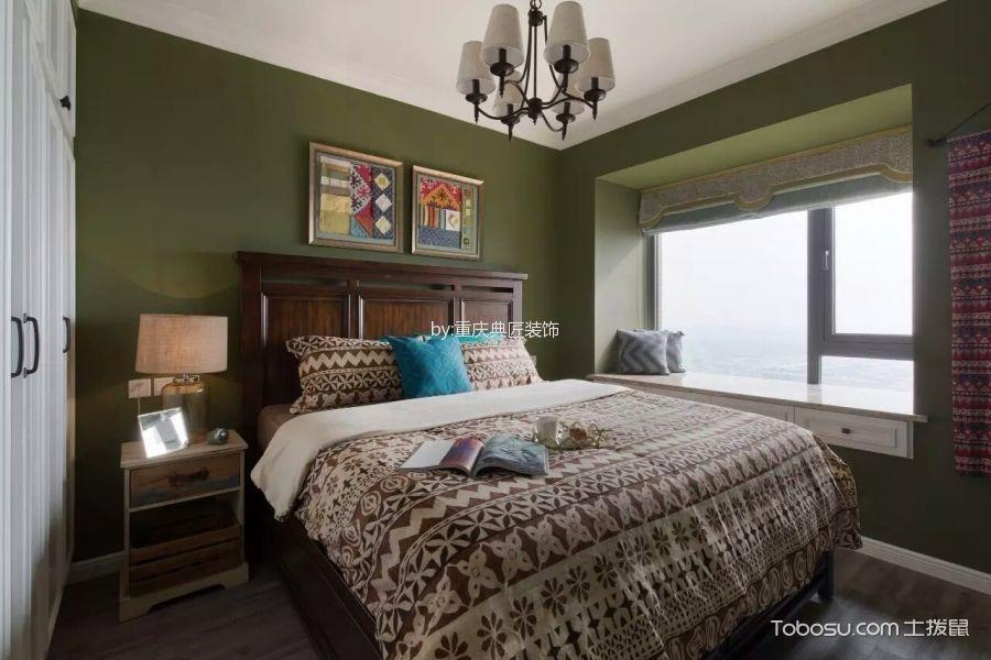 卧室白色飘窗美式风格装潢效果图
