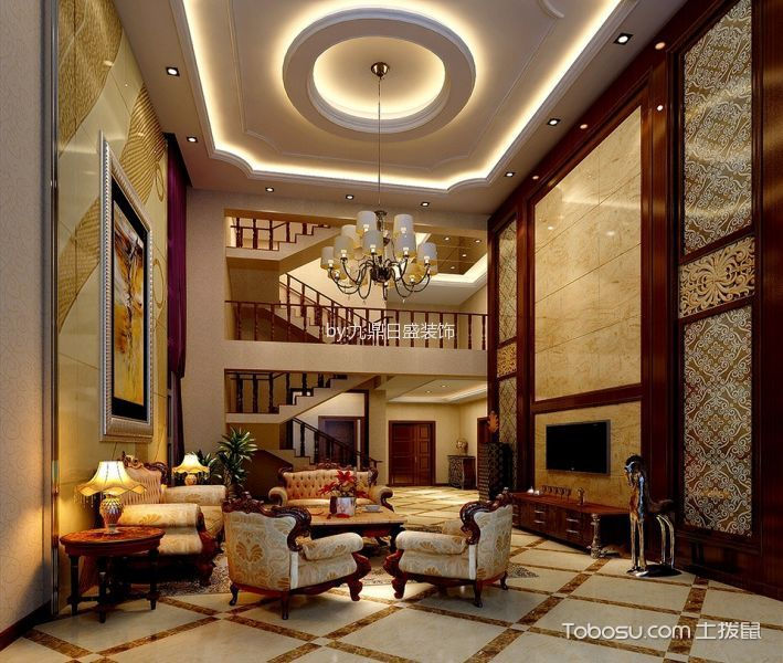 紫檀山480平别墅----新中式风格