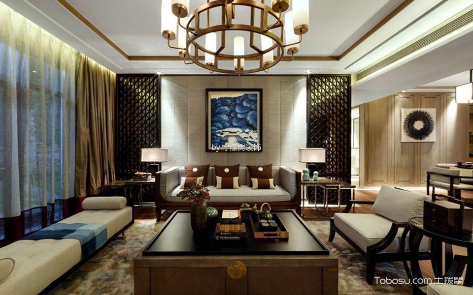 2021中式古典120平米装修效果图片 2021中式古典三居室装修设计图片