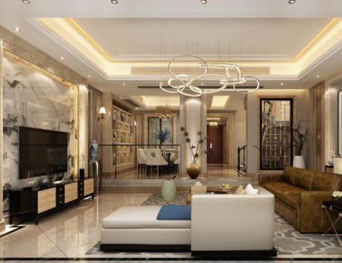 银亿领墅别墅装修新中式风格设计图