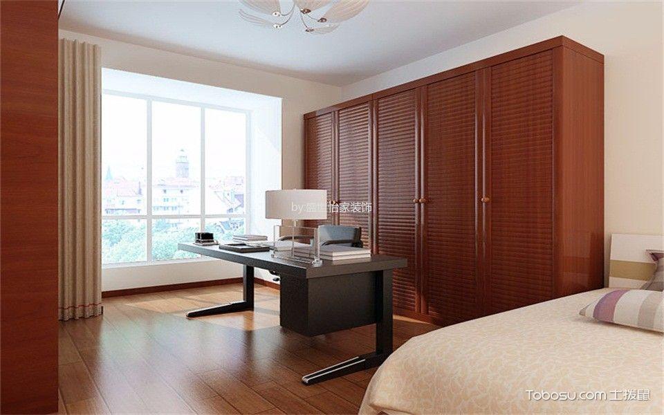 卧室咖啡色衣柜新中式风格装饰设计图片