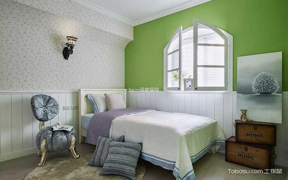 卧室 窗台_恒茂国际新城田园风格装修效果图