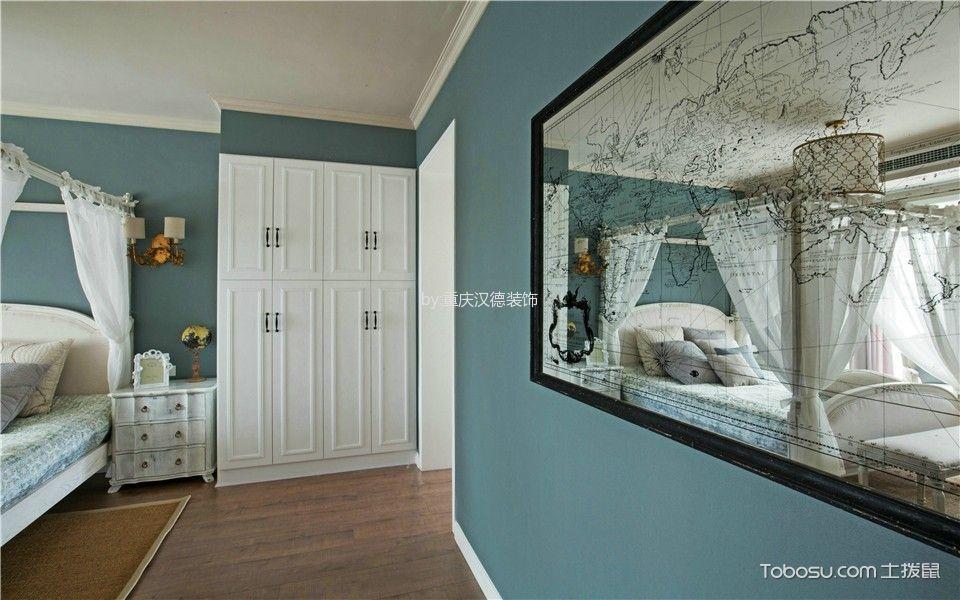 卧室咖啡色地板砖北欧风格装修图片