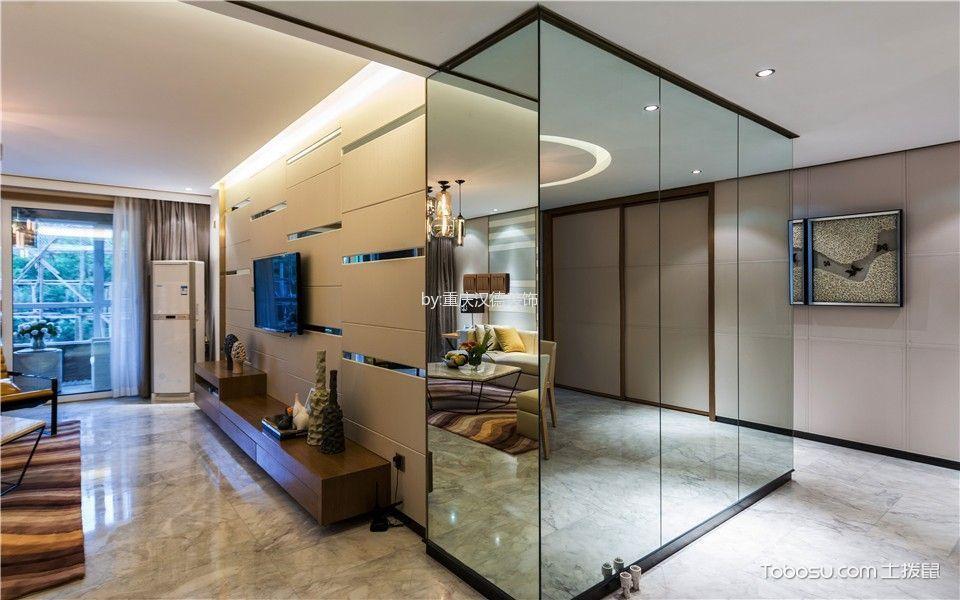 客厅灰色地砖现代简约风格装饰效果图