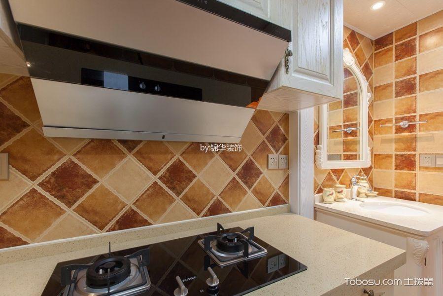 厨房蓝色隔断美式风格装潢图片