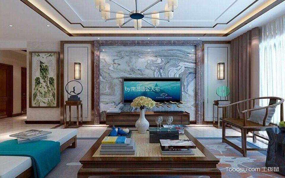 南昌朝阳新城136平米新中式风格效果图