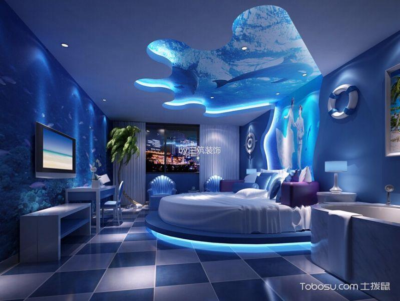 主题宾馆蓝色海洋装修实景图