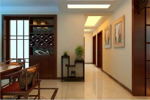 玄关走廊中式风格装修效果图