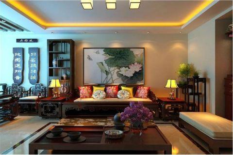 客厅榻榻米中式风格装修图片