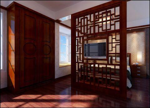 玄关背景墙中式风格装修图片