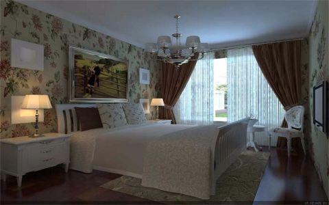 卧室窗台现代简约风格装潢效果图