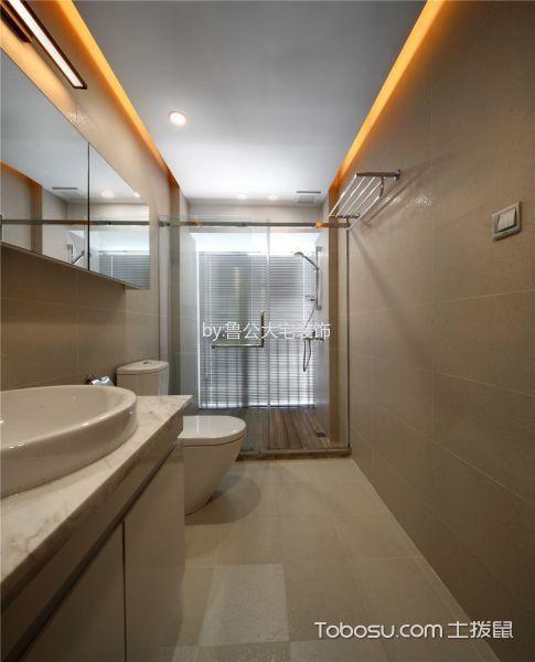 卫生间白色窗台现代风格装潢设计图片