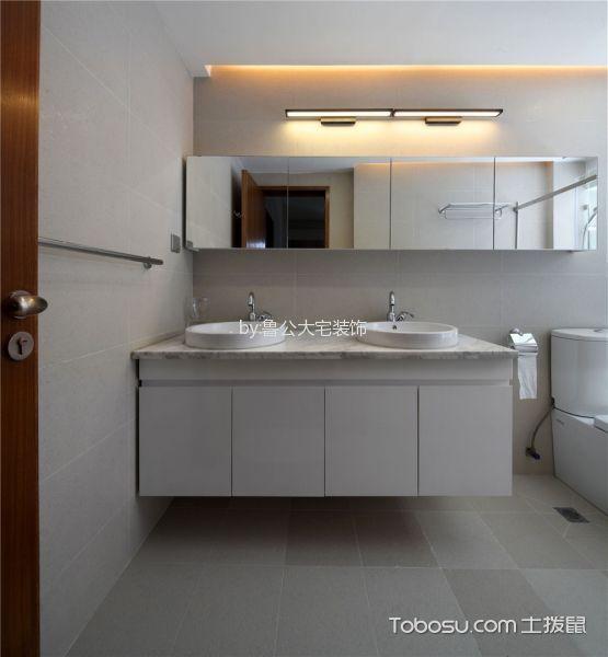 卫生间米色窗台现代风格装修效果图