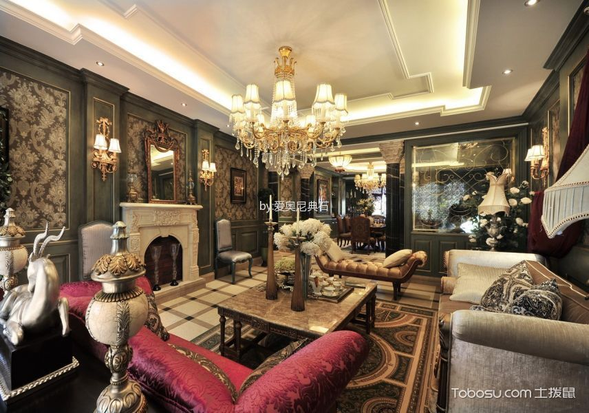 2021古典300平米以上装修效果图片 2021古典别墅装饰设计