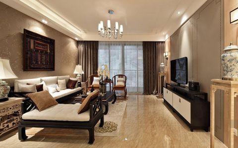 2020新中式100平米图片 2020新中式三居室装修设计图片