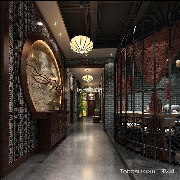 罗村湘色满园800平米中式餐馆装修效果图