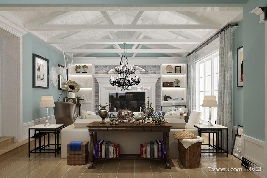客厅白色吊顶北欧风格装饰效果图