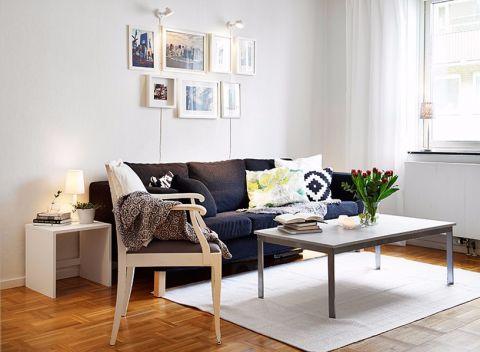 顶绣国际城93平三居室半包北欧风格装修设计图