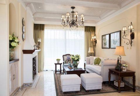 海赋江城天韵三居室美式风格半包装修设计图