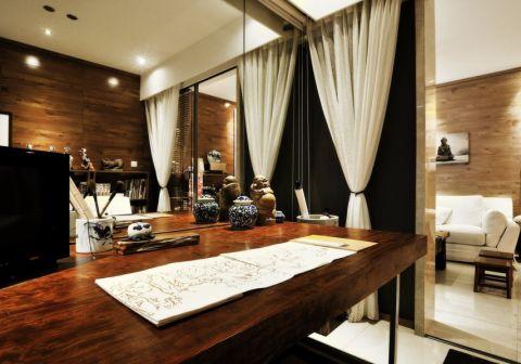 中海原山110平米中式风格三居室装修效果图