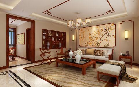 华夏小区150平米旧房改造中式装修