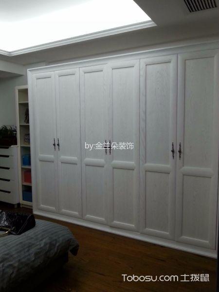 卧室白色推拉门新中式风格装修设计图片