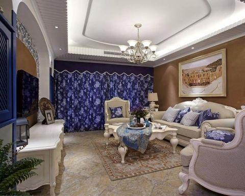 福星华府123平三居室半包地中海风格装修设计图
