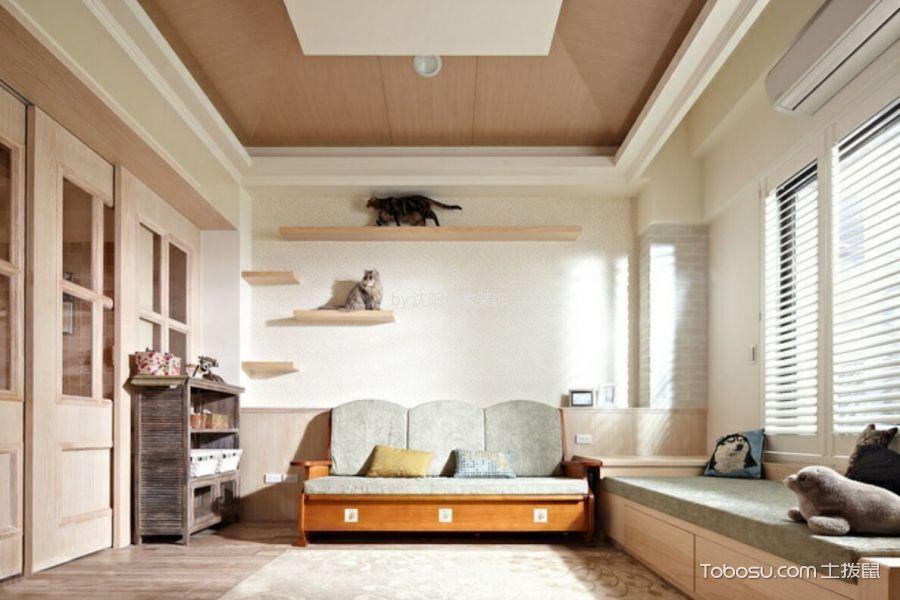 卧室 走廊_假日普罗旺斯50平米清新美式风格小户型装修效果图
