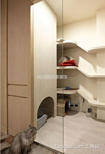 客厅 隐形门_假日普罗旺斯50平米清新美式风格小户型装修效果图
