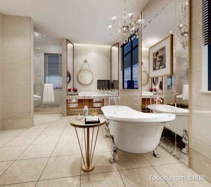 卫生间白色窗台现代风格装潢效果图