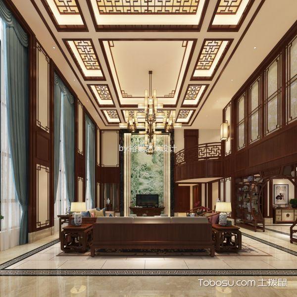 碧桂园小区别墅中式风格装修效果图