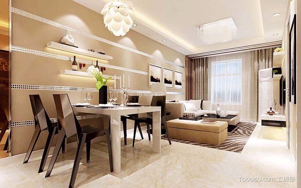 重庆国盛三千城90平米现代简约风格效果图
