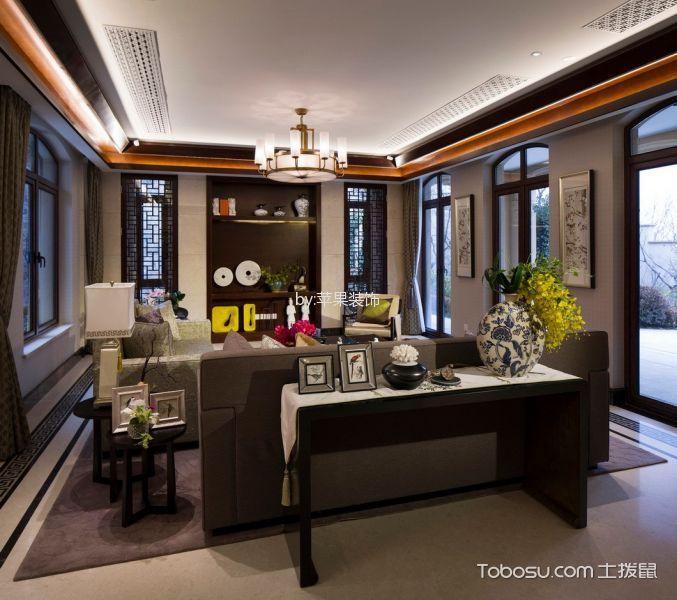 客厅白色吊顶中式古典风格装饰图片