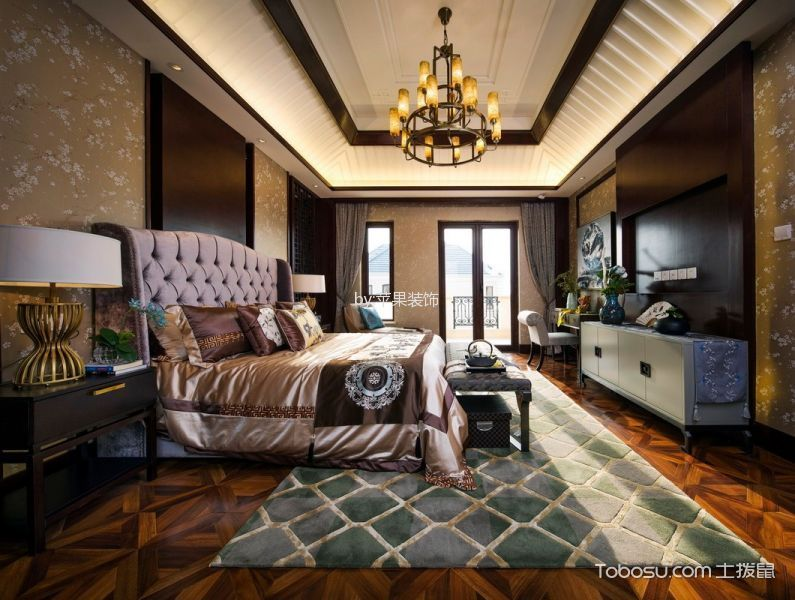2020中式古典150平米效果图 2020中式古典三居室装修设计图片