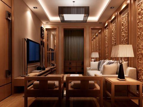 2019中式120平米装修效果图片 2019中式三居室装修设计图片