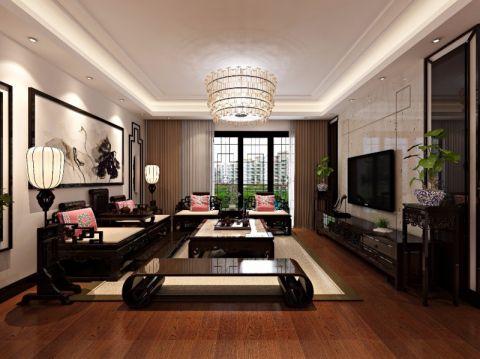 2019中式120平米装修效果图片 2019中式二居室装修设计