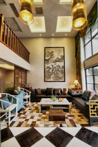 摩登中国新中式搭配现代风格装修效果图