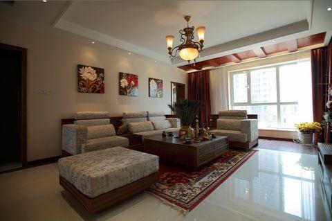 现代中式演绎完美生活,4居室户型经典设计,爱家爱生活。