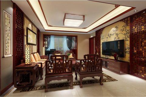 领秀城古典中式四房效果图