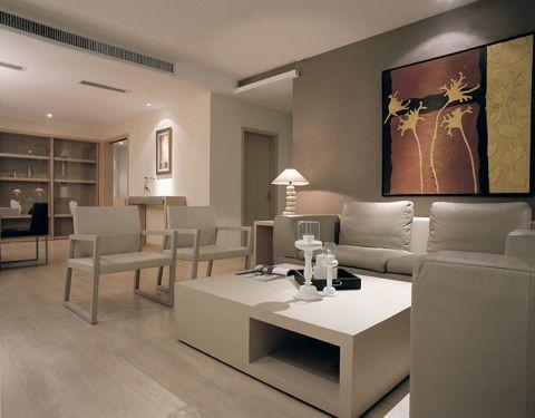"""现代简约风格设计定位:家是心灵的港湾。随着人们在旅游中感受到简约的魅力,""""简约但并不简单的装饰风格""""。当疲惫的身心对家的依恋越发强烈,人们想要的是轻松、自由的环境,""""现代简约风格""""自然就成为家居设计的一种风尚。注重大小色块间的组合,地域性的后期配饰融入设计风格之中。 简约,不简单走进现代简约风格家居。现代人面临着城市的喧嚣和污染,激烈的竞争压力,还有忙碌的工作和紧张的生活。因而,更加向往清新自然、随意的居室环境。越来越多的都市人开始摒弃繁缛豪华的装修,力求拥有一种自然简约的居室空间。 此居室整体采用中性色调,稳重,大气,却又不失品位,有令人眼前一亮的感觉。最重要的是强调功能性设计,线条简约流畅,色彩对比强烈,这是现代风格家具的特点。此外,大量使用茶镜、木饰面等材料作为辅材,也是现代风格家居风格的主要装修材料,能给人带来现代、时尚,大气的感觉。"""