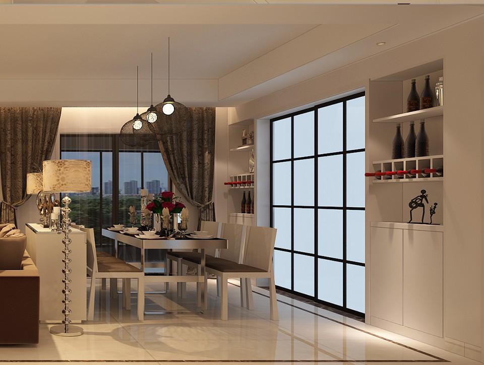 3室2卫2厅156平米后现代风格