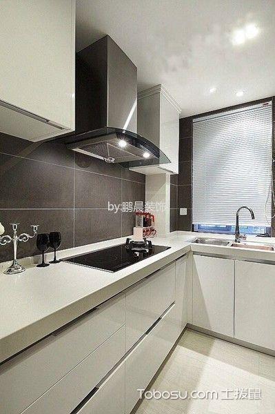 厨房白色隔断现代风格装修效果图