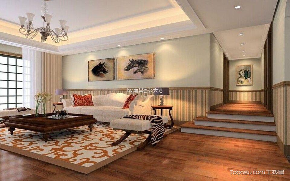 紫金城160㎡三居室美式风格案例效果图